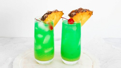 Blue Hawaii Mocktail Drink Recipe